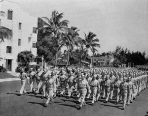Candidates at the school marching